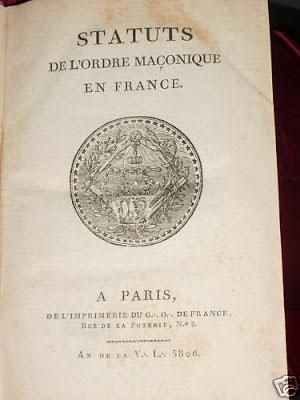 Estatutos de la orden masónica en Francia